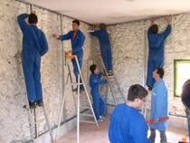 ремонт стен помещений Новодвинск