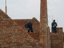 строительные работы дома из кирпича